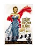 Casablanca  Italian Poster Art  Ingrid Bergman  1942