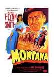 Montana  Alexis Smith  Errol Flynn  (French Poster Art)  1950