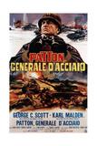 Patton  (AKA Patton Cenerale D'Acciaio)  Italian Poster Art  George C Scott  1970