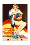 Morocco  (AKA Herzen in Flammen)  Marlene Dietrich  on German Poster Art  1930
