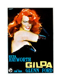 Gilda  Rita Hayworth on 1950s Italian Poster Art  1946