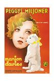 Peg O' My Heart  (AKA Peggys Miljoner)  Swedish Poster Art  Marion Davies  1933