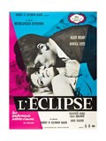 Eclipse  (AKA L'Eclipse  from Top: Alain Delon  Monica Vitti on French Poster Art  1962