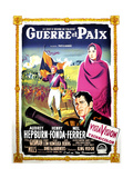 War and Peace  (AKA Guerre Et Paix)  French Poster Art  1956