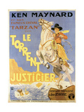 Mountain Justice  (AKA Le Torrent Justicier)  French Poster Art  Ken Maynard  1930