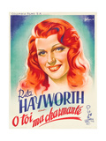 You Were Never Lovelier  (AKA O Toi Ma Charmante!)  Rita Hayworth on French Poster Art  1942