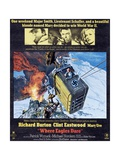 Where Eagles Dare  Top L-R: Richard Burton  Clint Eastwood  Mary Ure on Poster Art  1968