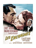 Notorious  French 1963 Re-Release Poster Art  Cary Grant  Ingrid Bergman  Claude Rains  1946