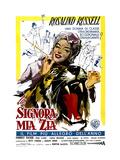 Auntie Mame  (AKA La Signora Mia Zia)  Italian Poster Art  Rosalind Russell  1958