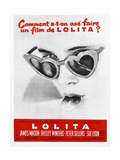 Lolita  Sue Lyon on French Poster Art  1962