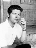 Stephen Boyd  in Rome  Where He Is Filming Imperial Venus  1962