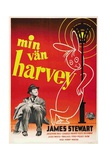 Harvey  (AKA Min Van Harvey)  James Stewart on Swedish Poster Art  1950