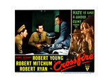 Crossfire  from Left: Robert Mitchum  Robert Ryan  Robert Young  1947