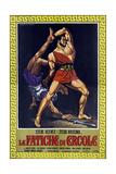 Hercules  (aka Le Fatiche Di Ercole)  Steve Reeves on Italian Poster Art  1958