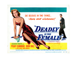 Gun Crazy  (AKA Deadly Is the Female)  Title Card  from Left: Peggy Cummins  John Dall  1949
