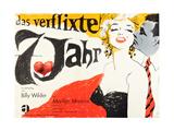 The Seven Year Itch  (AKA Das Verflixte 7 Jahr)  German Poster Art  1955