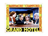 Grand Hotel  from Left  Joan Crawford  John Barrymore  Lionel Barrymore  Lewis Stone  1932