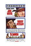 El Dorado  from Top: John Wayne  Robert Mitchum on Poster Art  1966