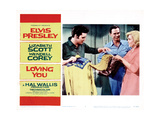 Loving You  from Left    Elvis Presley  Wendell Corey  Lizabeth Scott  1957