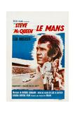 Le Mans  French Poster  Steve Mcqueen  Elga Andersen  1971
