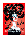 Sunset Boulevard  (AKA Bulwar Zachodzacego Slonca)  Polish Poster Art  Gloria Swanson  1950
