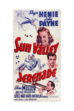 Sun Valley Serenade  from Top: Sonja Henie  John Payne  Glenn Miller  1941