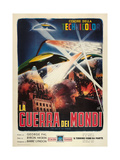 The War of the Worlds  (AKA La Guerra Dei Mondi)  Italian Poster Art  1953