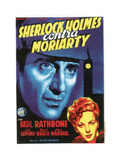 The Adventures of Sherlock Holmes  (AKA Sherlock Holmes Contra Moriarty)  Spanish Poster Art  1939