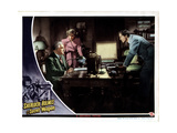 Sherlock Holmes and the Secret Weapon  from Left  Nigel Bruce  Kaaren Verne  Basil Rathbone  1943
