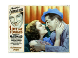 Love Me Tonight  from Left  Jeanette Macdonald  Maurice Chevalier  1932