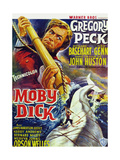 Moby Dick  Gregory Peck on French Poster Art  1956
