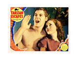 Tarzan Escapes  from Left  Johnny Weissmuller  Maureen O'Sullivan  1936