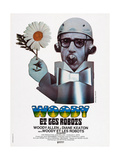 Sleeper  (AKA Woody Et Les Robots)  French Poster Art  Woody Allen  1973