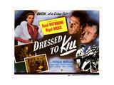 Dressed to Kill  from Left  Patricia Morison  Basil Rathbone  Nigel Bruce  1946