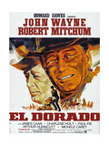 El Dorado  L-R: Robert Mitchum  John Wayne on French Poster Art  1966