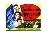 Gentleman's Agreement  from Top  Gregory Peck  Dorothy Mcguire  John Garfield  Celeste Holm  1947