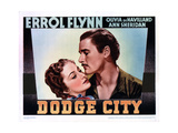 Dodge City  from Left  Olivia De Havilland  Errol Flynn  1939