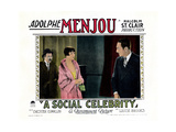 A Social Celebrity  from Left: Chester Conklin  Louise Brooks  Adolphe Menjou  1926
