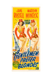 Gentlemen Prefer Blondes  L-R: Jane Russell  Marilyn Monroe on Australian Daybill Poster Art  1953