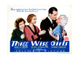 Three Wise Girls  Marie Prevost  Mae Clarke  Walter Byron  Jean Harlow  1932
