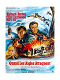 Where Eagles Dare  from Left  Mary Ure  Richard Burton  Clint Eastwood  1968