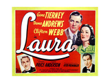 Laura  from Left  Clifton Webb  Dana Andrews  Gene Tierney  Vincent Price  1944