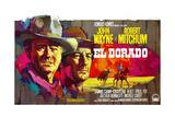 El Dorado  L-R: John Wayne  Robert Mitchum on Belgian Poster Art  1966