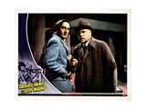 Sherlock Holmes and the Secret Weapon  from Left  Basil Rathbone  Nigel Bruce  1943