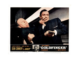 Goldfinger  from Left  Gert Frobe  Sean Connery  1964
