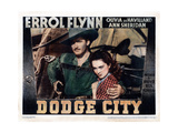 Dodge City  from Left  Errol Flynn  Olivia De Havilland  1939