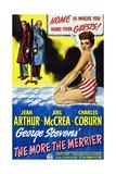 The More the Merrier  Left to Right: Joel Mccrea  Charles Coburn  Jean Arthur  1943