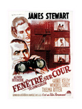 Rear Window  (aka Fenetre Sur Cour)  French Poster Art  1954