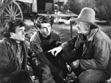 Red River  from Left: Noah Beery Jr  Montgomery Clift  Walter Brennan  1948