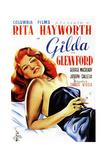 Gilda  Rita Hayworth on Spanish Poster Art  1946